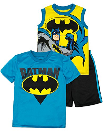 DC Comics Batman Kleinkinder Jungen Shirt, Tank Top & Shorts Set, Gelb 6 - Kleinkind Jungen Batman Kostüm