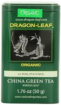 Dragon-Leaf Organic China Whole Leaf, Green Tea, 1.76-Ounce