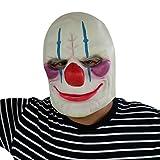 Horror clown joker mask Tête de masque en latex très haute qualité avec des ouvertures pour les yeux Carnaval de carnaval carnaval costume carré pour adultes hommes et femmes femmes hommes effrayant creep zombie monstre démon horreur partie party