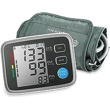 INLIFE Tensiómetro de Brazo, Eléctrico Monitor Digital de Presión Arterial, Monitor Automático del Ritmo Cardíaco, con Alta Precisión, Lectura Instantánea, Puño Ajustable, Aprobación de FDA