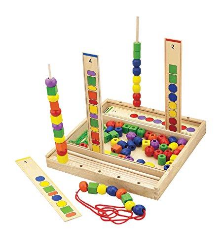 Viga Toys - 56182 - Calcul Et Mathématique - Collier De Perles - Suivre L'ordre Des Codes Couleurs