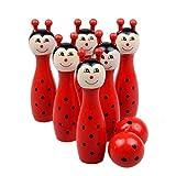 """♡: pacchetto:♡: 1set Cartoon legno palle da bowling♡: mamum® offrono diversi tipi di grandi prodotti ai prezzi più bassi possibili, al fine di trovare """"mamum® giocattolo more. benvenuto al nostro negozio e ottenere quello che vuoi. (^ _ ^) ..."""