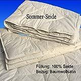 Frankenstolz Sommer-Bettdecke 100% Seide 135x200 Sommerdecke Sonderposten (135x200)