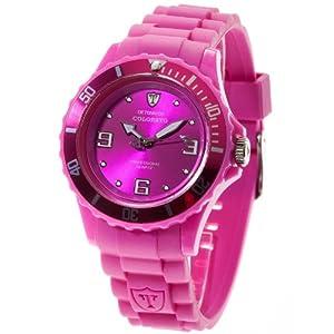 Detomaso DT3007-J – Reloj analógico de Cuarzo para Mujer con Correa de Silicona, Color Morado