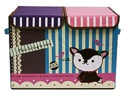 Uberlyfe Foldable Kids Toy Organizer- Double Flap - Large (KSB-000045-DF1813F2)