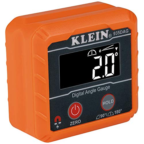 Klein Tools 935DAG Digital Electronic Level Gauge, 0-90 and 0-180 Degree Ranges, Measures and Sets Angles
