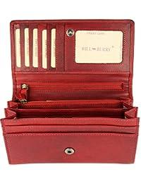 6f60a5b7eff1 Portefeuille Hill Burry Ancien - Pour femme - Marron - Rouge - Vert - Noir  - Gris - Bleu - En cuir souple - 17,5 x 10 x 3 cm (B x…