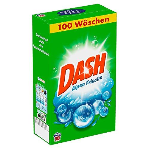 Dash Vollwaschmittel Pulver Alpen Frische, 6,5 kg - 100 Waschladungen, 1er Pack (1 x 6,5 kg)