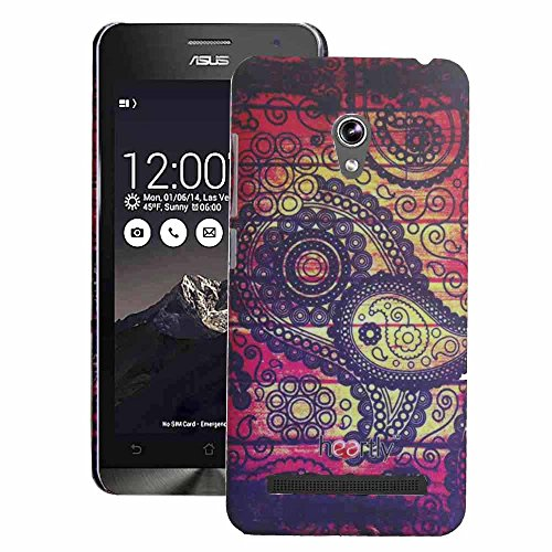 Heartly Aztec Tribal Art Printed Design Retro Color Armor Hard Bumper Back Case Cover For Asus Zenfone 5 Lite A502CG - Dark Leaf  available at amazon for Rs.249