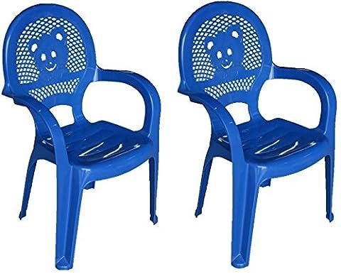 Chaiseen plastiquedejardinpour enfantsRESOL-bleu-(Packde2chaises)
