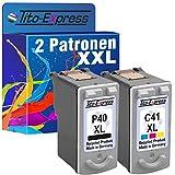 PlatinumSerie® Farbset 2 Patronen für Canon PG-40 XL & CL-41 XL Pixma MP450 MP210 MP220 MP450 MP460 MX300 MX310