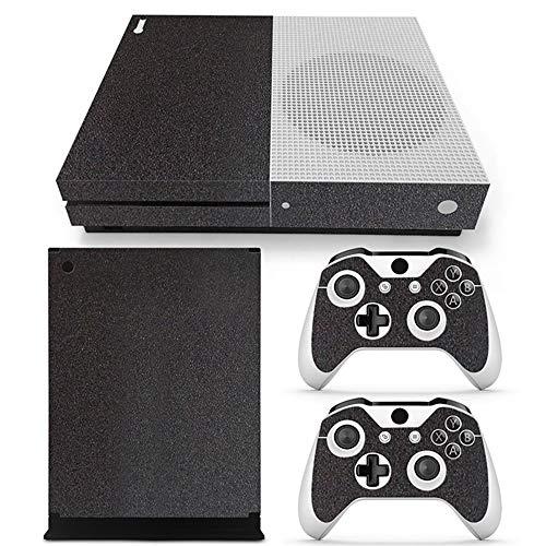 Sololife Schutzfolie für Xbox One S Slim Konsole und Controller (Nicht für alte Xbox One, Vinyl, kariert, Blau schwarzes Leder