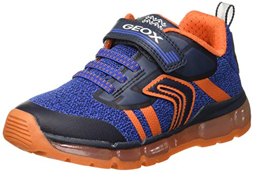 Geox Jungen J Android Boy A Sneaker, Blau (Navy/Orange C0659), 32 EU - Junior Boy Casual Schuhe