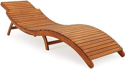 Lieblich Deuba Sonnenliege | Akazien Holz | Faltbar | Kofferfunktion | Kurvig |  Ergonomisch | Gartenliege Liegestuhl