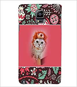 PrintDhaba Cat D-3153 Back Case Cover for SAMSUNG GALAXY NOTE 3 (Multi-Coloured)
