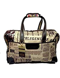 Printed Travel Duffle Polyester Bag / Luggage / Travelling Bag With Two Wheels By Must Visit