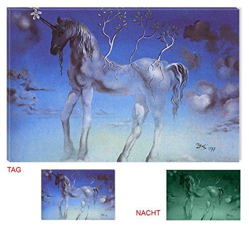 Startonight Leinwand Wand Kunst Salvador Dali Unicorn, Doppelansicht Überraschung Modernes Dekor Kunstwerk Gerahmte Wand Kunst 100% Ursprüngliche Fertig zum Aufhängen 80 x 120 CM