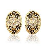 YTB Nickel-Freies Antiallergisches 18K Reales Gold Überzogene Ohrringe Für Frauen-Neue Art- Und Weiseschmucksachen Rosengoldbeschichtet 2.3Cmx1.6Cm
