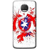 Mott2 Back Case For Motorola Moto G5s Plus | Motorola Moto G5s PlusBack Cover | Motorola Moto G5s Plus Back Case - Printed Designer Hard Plastic Case - Captain America Theme - B075VRNF5B