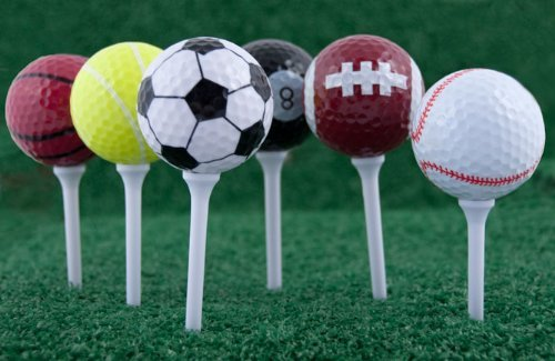 Ensemble de 6 balles de Golf + 6 longues Tees - grand cadeau pour tout golfeur * boîte-cadeau *