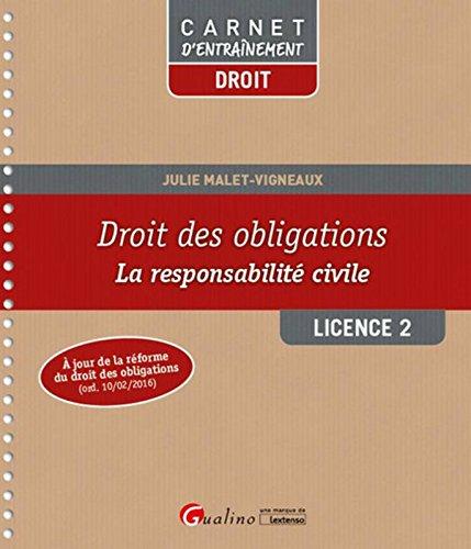 Droit des obligations - La responsabilité civile L2 -S2