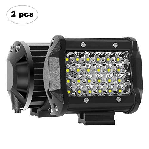 AAIWA Faro da Lavoro LED, 4 Pollici 72W Faretti a LED per Auto Barra LED Fuoristrada LED Pods con 9 LEDs per SUV ATV UTV Truck Barca, 2 Pezzi, 2 Anni di Garanz