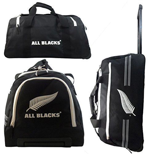 All Blacks Unisex Sporttasche Kinder Roulette, schwarz/weiß (Real Madrid Messenger Tasche)