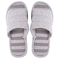 Memorygou Bedroom Slippers - Soft Comfy Memory Foam Casual Slip-on Indoor Slippers for Women/Men Anti-Slip and Breathable -Coffee-44(10-11)