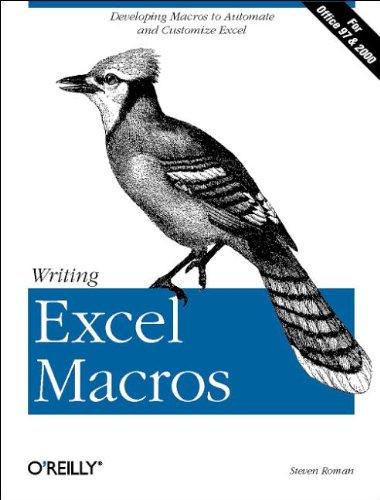 Writing Excel Macros (en anglais)