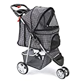 Best Pet 3 Wheel Strollers - EDYUCGA Pet Stroller 3 Wheels Lightweight Folding Cat Review
