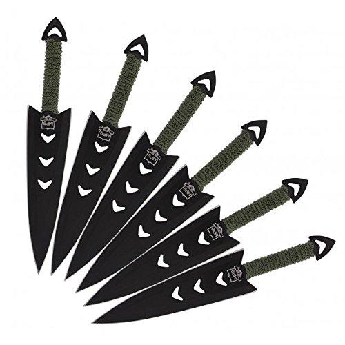 6 teiliges G8DS® Wurfmesser Set komplett mit Oberschenkelholster 7860