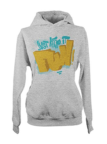 Just Keep It Fun Femme Capuche Sweatshirt Gris
