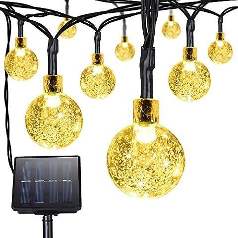 Xintop LED Lichterkette Solar Lange 6 Meter 30LED Crystal Ball Solar String Lights Fairy Lights (Warm White...