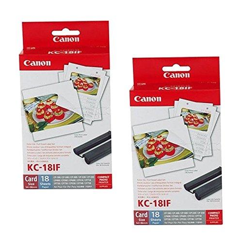 2x Original Canon Multipack KC-18IF KC18IF für Canon Selphy CP 1000 - 54x86mm, 18 Blatt, 1x Kartusche Farbig -
