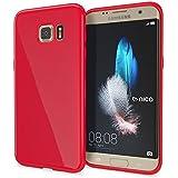Samsung Galaxy S7 Edge Coque Silicone de NICA, Ultra-Fine Housse Protection Cover Slim Premium Etui Résistante, Mince Telephone Portable Gel Case Bumper Souple pour Samsung S7 Edge - Rouge