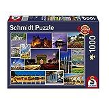 Schmidt Spiele Puzzle 58340 - Mach mal Urlaub in Frankreich, 1.000 Teile Puzzle