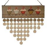 calendarios 2018 pared Sannysis DIY calendarios de adviento decoración de navidad planificador y calendario para hogar planificador mensual organizador mensual tablero corcho (D)
