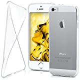 moex Apple iPhone 5S | Hülle Silikon Transparent Klar Clear Back-Cover TPU Schutzhülle Dünn Handyhülle für iPhone 5/5S/SE Case Ultra-Slim Silikonhülle Rückseite