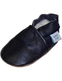Dotty Fish - Chaussures de bébé en cuir souple Design marine