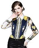 Damen Elegante 3/4 Ärmel or Lange Ärmel Hemden mit Paisleymuster Oberteile Mode Hemd Top