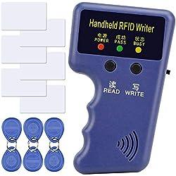 125KHZ RFID ID Carte UID Writer/Copieur Duplicateur Home Security System de Controle d'accès Programmeur + 6pcs Cartes d'identité Enregistrables + 6pcs Kit d'étiquettes d'identification