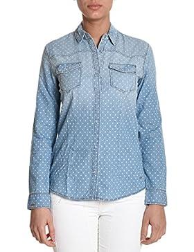 Sun 68 Camicia Donna SW0320531 Cotone Blu