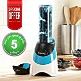 Eezzy Blend - Active Blender - Blend and Go Juicer Health Smoothie Maker - 300w with 600ml Capacity in Red or Blue (Blue)