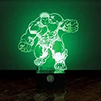 Paladone GIFPAL194 Lámpara para Mesilla Hulk, Multicolor