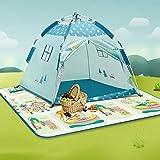 Mogicry Tenda per Bambini Toy Room Baby Fold Princess Castle Grande casa Ocean Ball Game House per Bambini Bambini Tenda da Gioco per Esterni da Esterno 1+ (Dimensione : Tent+Camping rug)