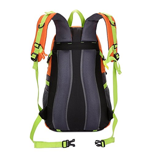 sosoin Outdoor escursionismo impermeabile da viaggio campeggio zaino borsa zaino, unisex, Blue Orange