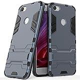Funda para Xiaomi Redmi Note 5A (5,5 Pulgadas) 2 en 1 Híbrida Rugged Armor Case Choque Absorción Protección Dual Layer Bumper Carcasa con pata de Cabra (Azul Negro)