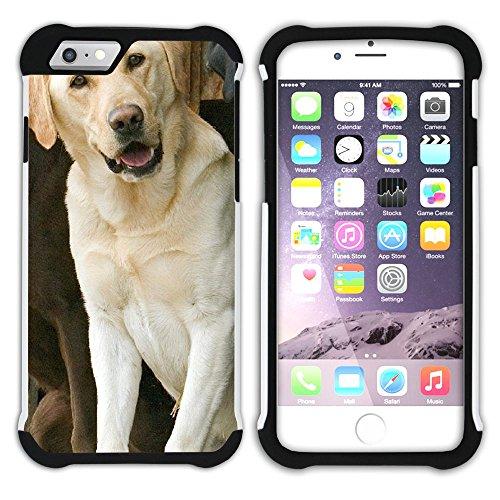 Graphic4You Labradorhund Labrador Retriever Hund Hündchen Tier Hart + Weiche Kratzfeste Hülle Case Schale Tasche Schutzhülle für Apple iPhone 6 Plus / 6S Plus Design #15