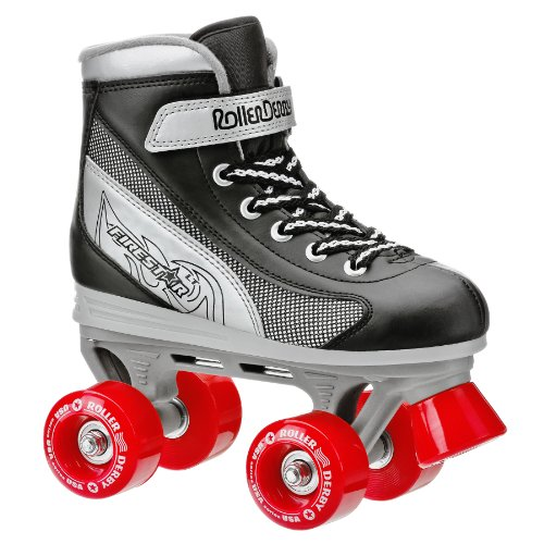 Roller Derby Rollschuhe Fire Star Junior Boy's Skate Schwarz/Silber/Rot 3