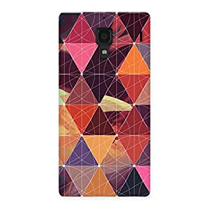 Neo World Just Triangles Back Case Cover for Redmi 1S